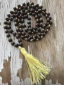 Náhrdelníky - náhrdelník so strapcom-slniečkový - 9511601_