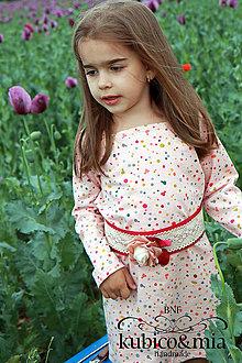 Detské oblečenie - Tuniko-šatičky bodkované - 9513827_