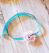 Pierka - náramok pre malé družičky tyrkysovo-ružový - 9512574_
