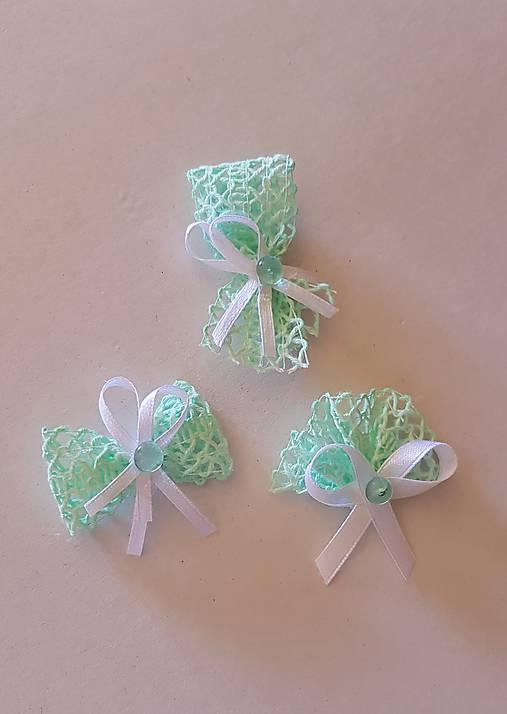 pierka mentolové zelené, pistáciové pre dámy aj pre pánov