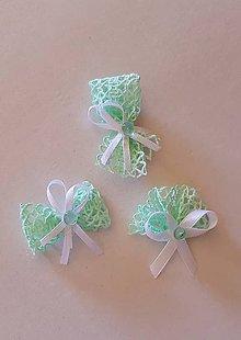 Pierka - pierka mentolové zelené, pistáciové pre dámy aj pre pánov - 9512465_