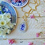 Náhrdelníky - Folklore - šitý náhrdelník - 9514561_