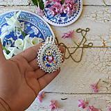 Náhrdelníky - Folklore n.2 - šitý náhrdelník - 9514566_