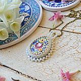 Náhrdelníky - Folklore n.2 - šitý náhrdelník - 9514567_