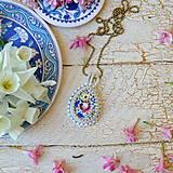 Náhrdelníky - Folklore n.2 - šitý náhrdelník - 9514568_
