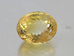 Minerály - Veliký CITRÍN prírodný neupravovaný špeciálny brus ovál 35ct čistý - 9513240_