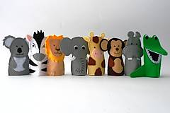 Hračky - Bábky na prsty: Zvieratá zo ZOO - 9512896_