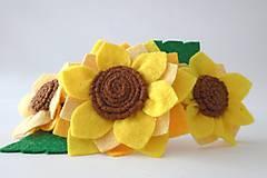 Kvetinová čelenka L (Slnečnice)
