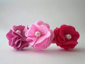 Detské doplnky - Kvetinová čelenka M - 9513034_