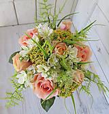 Dekorácie - svadobná kytica pastelová - 9514228_