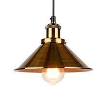 Svietidlá a sviečky - Závesné svietidlo so zlatým tienidlom, 220mm - 9514386_