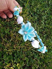 Ozdoby do vlasov - Čelenka bielo-modrá - 9513491_