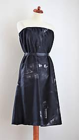 Šaty - CHARCOAL ...malé čierne maľované - 9512903_