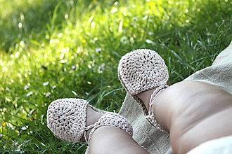 Topánočky - Topánočky na členkové viazanie-  starorúžová - 9514133_