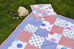 - Námornícka patchworková deka pre dievčatá - 9513314_