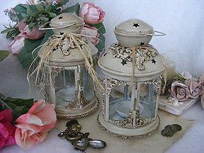 Svietidlá a sviečky - Vintage lampášik ... - 9513844_