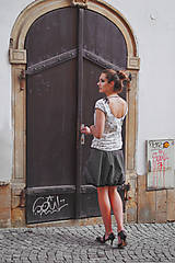 Sukne - Black white stripes poslední - 9514663_