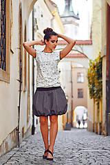 Sukne - Black white stripes poslední - 9514665_