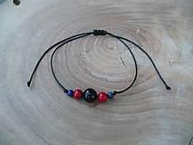 Náramky - jednoduchý šnúrkový náramok s Onyxom,Koralom a Lapis lazuli - 9514425_