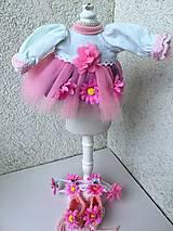 - Šatočky, čelenka a topánočky pre bábiku 26-27 cm. - 9513514_