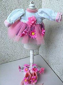 Hračky - Šatočky, čelenka a topánočky pre bábiku 26-27 cm. - 9513514_