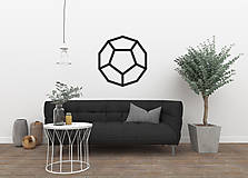 - Magnetická geometrická nástenka / dekorácia DODECAHEDRON - 9515295_