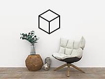 - Magnetická geometrická nástenka / dekorácia CUBE - 9515313_