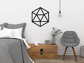 Dekorácie - Magnetická geometrická nástenka / dekorácia ICOSAHEDRON - 9515282_