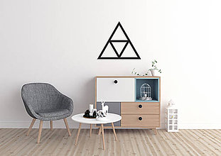 Dekorácie - Magnetická geometrická nástenka / dekorácia TRIANGLE - 9515292_