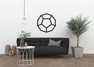 Dekorácie - Magnetická geometrická nástenka / dekorácia DODECAHEDRON - 9515295_