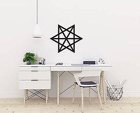 Dekorácie - Magnetická geometrická nástenka / dekorácia MERKABA - 9515304_