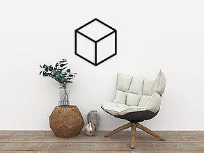 Dekorácie - Magnetická geometrická nástenka / dekorácia CUBE - 9515313_