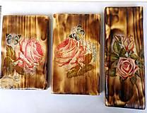Obrázky - Sada drevených obrázkov-ruže - 9518363_