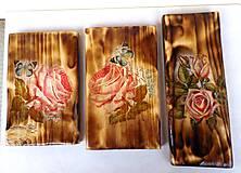 Obrázky - Sada drevených obrázkov-ruže - 9518364_