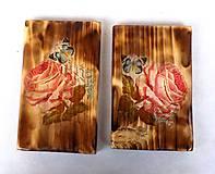 Obrázky - Sada drevených obrázkov-ruže - 9518365_