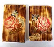 Obrázky - Sada drevených obrázkov-ruže - 9518366_