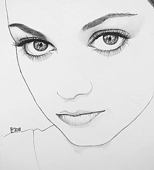Kresby - Portrét - Minimalizmus - 9515466_