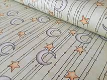 Textil - Dizajnová bavlna Mirabelle - Adrift - noc svetlá - 9516449_
