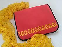 Na notebook - Aztécka ? (ručne vyšívaná taška na rameno) - 9518346_