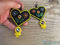 Heart collection...vyšívané (Black/Yellow)