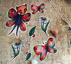 Papiernictvo - Motýlie nálepky - 9515303_