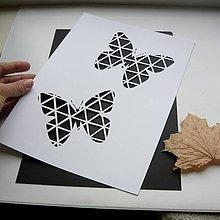 Obrazy - Motýle geo - 9517060_