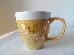Nádoby - veľká žltá so zlatom - 9518798_