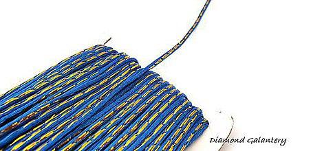 Galantéria - Saténová šnúrka 3 mm s lurexom - kráľovská modrá - 9516875_