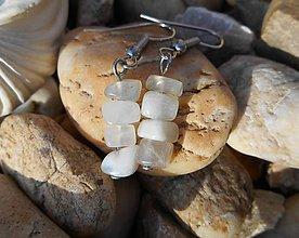 Náušnice - white moon stones-naušnice - 9519003_