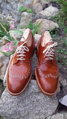 Obuv - Hand made luxusné pánské topánky z kože - 9518595_