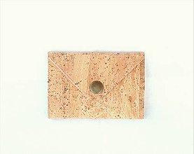 Peňaženky - Korková peňaženka mini natural I. - 9517745_