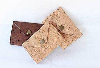Peňaženky - Korková peňaženka mini natural II. - 9517763_