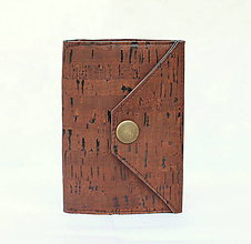 Peňaženky - Korková peňaženka mini brown - 9517770_