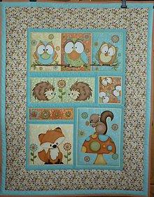 Textil - Detská deka ZVIERATKÁ (dva varianty)  (rozmer 118x91 cm) - 9518666_